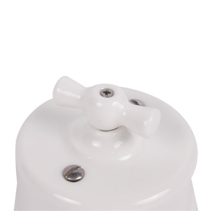 Выключатель на одно положение керамика цвет белый
