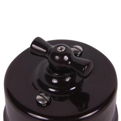 Выключатель на одно положение керамика цвет коричневый