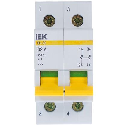 Купить Выключатель нагрузки IEK ВН-32 2 полюса 32 А дешевле
