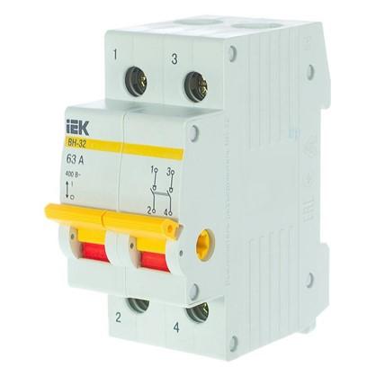 Купить Выключатель нагрузки IEK ВН-32 2 полюса 63 А дешевле