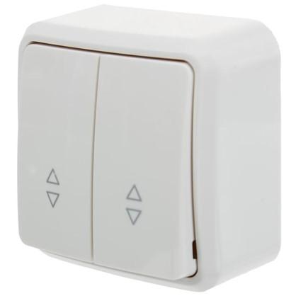 Выключатель проходной двойной цвет белый