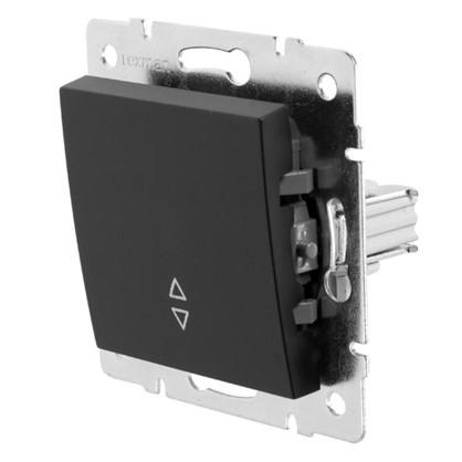 Купить Выключатель проходной Lexman Виктория 1 клавиша цвет черный бархат матовый дешевле