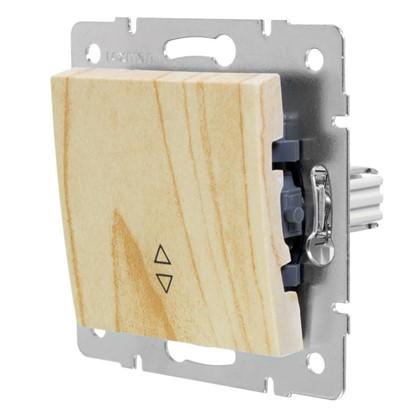 Выключатель проходной Lexman Виктория 1 клавиша цвет дуб беленый матовый