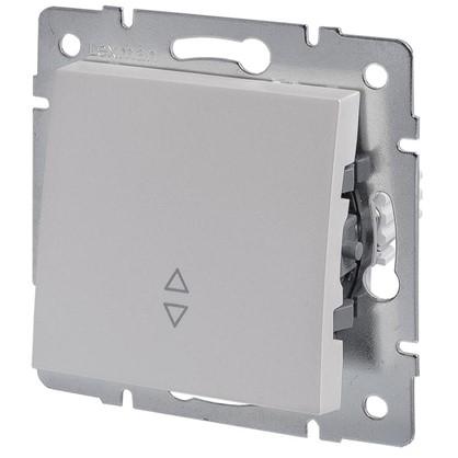 Выключатель проходной Lexman Виктория 1 клавиша цвет жемчужно-белый матовый