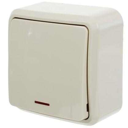 Купить Выключатель с подсветкой цвет бежевый дешевле