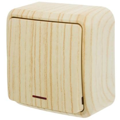 Купить Выключатель с подсветкой цвет дуб белёный матовый дешевле