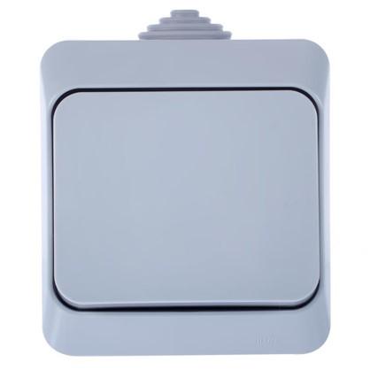 Выключатель Schneider Electric Этюд 1 клавиша цвет серый IР44