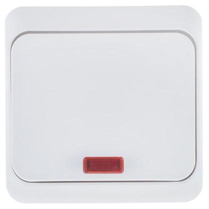 Выключатель Schneider Electric Этюд 1 клавиша с подсветкой цвет белый