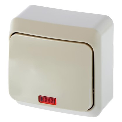 Купить Выключатель Schneider Electric Этюд 1 клавиша с подсветкой цвет кремовый дешевле