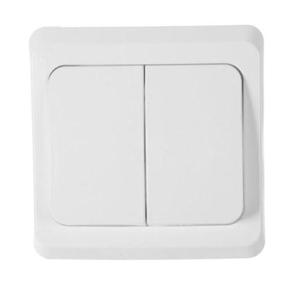 Выключатель Schneider Electric Этюд 2 клавиши цвет белый