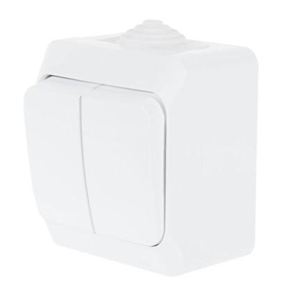 Выключатель Schneider Electric Этюд 2 клавиши цвет белый IР44
