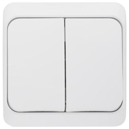 Выключатель Schneider Electric Этюд 2 клавиши цвет серый