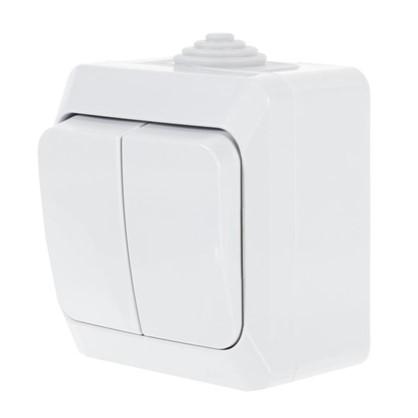 Выключатель Schneider Electric Этюд 2 клавиши цвет серый IР44