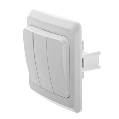 Купить Выключатель Schneider Electric Этюд 3 клавиши цвет белый дешевле