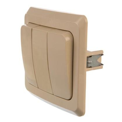 Купить Выключатель Schneider Electric Этюд 3 клавиши цвет кремовый дешевле