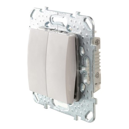 Выключатель Schneider Electric Unica 2 клавиши цвет белый
