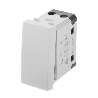 Выключатель Studio LK45 2 клавиши двухмодульный для розетки цвет белый