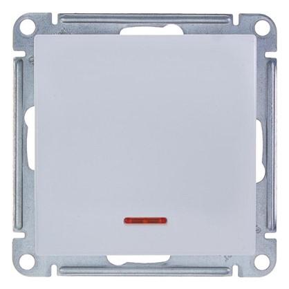 Выключатель W59 1 клавиша с подсветкой цвет белый