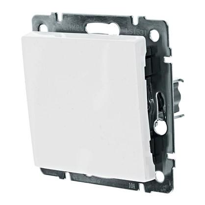 Выключатель Werkel 1 клавиша проходной цвет белый