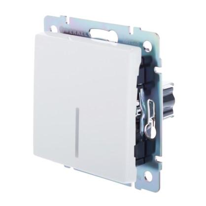 Купить Выключатель Werkel 1 клавиша с подсветкой цвет белый дешевле