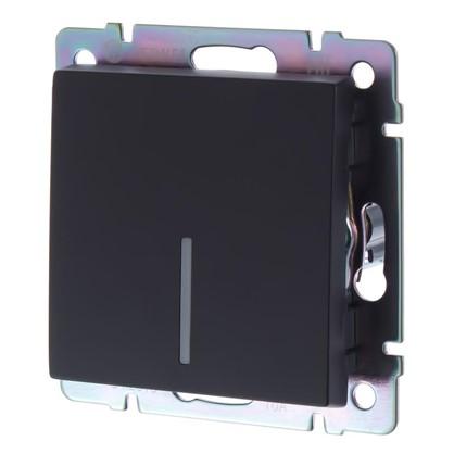 Купить Выключатель Werkel 1 клавиша с подсветкой цвет черный дешевле