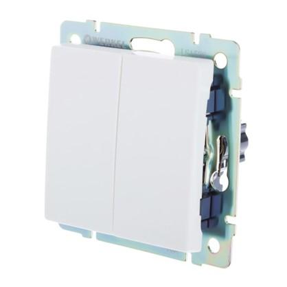 Выключатель Werkel 2 клавиши цвет белый