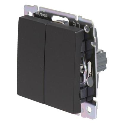 Выключатель Werkel 2 клавиши цвет черный
