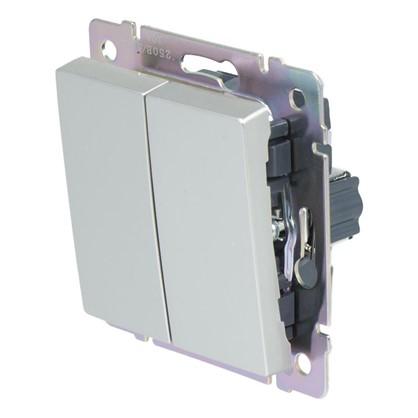 Выключатель Werkel 2 клавиши цвет серебро