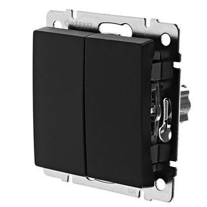 Выключатель Werkel 2 клавиши проходной цвет черный