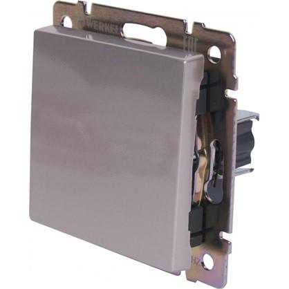 Выключатель WL06-SW-1G-C 1 клавиша цвет серебристый