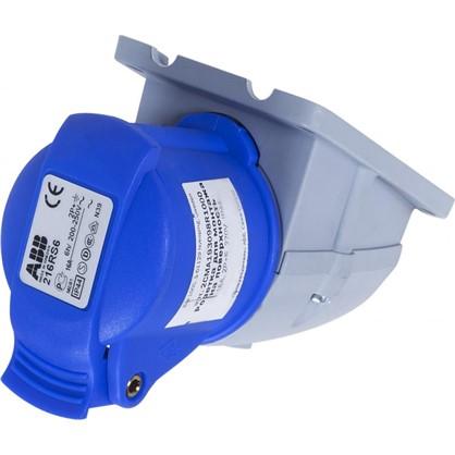 Вилка с заземлением Abb Icat 250 В цвет синий