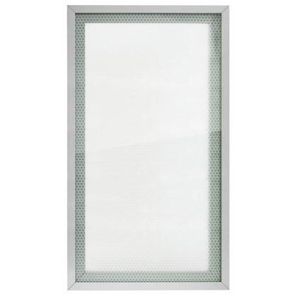 Витрина для шкафа Гексогон 40x70 см алюминий/стекло цвет бежевый
