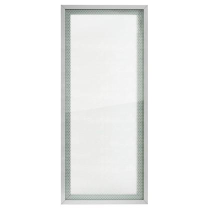 Витрина для шкафа Гексогон 40x92 см алюминий/стекло цвет бежевый