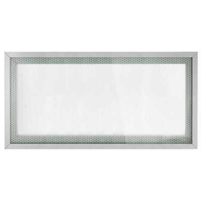Витрина для шкафа Гексогон 60x35 см алюминий/стекло цвет бежевый