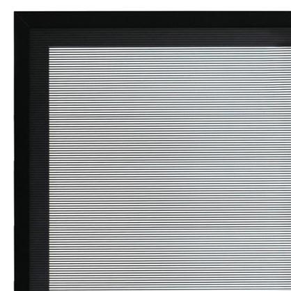Витрина для шкафа Лайн 40x92 см алюминий/стекло цвет серый