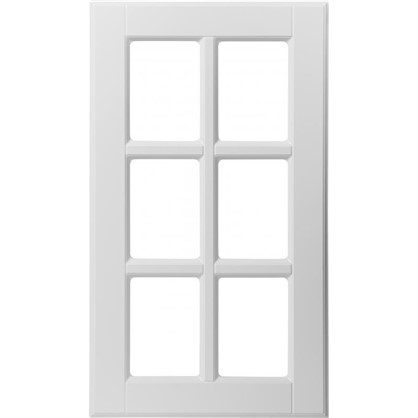 Витрина для шкафа Леда белая 40х70 см