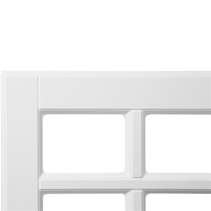 Купить Витрина для шкафа Леда белая 60х35 см дешевле