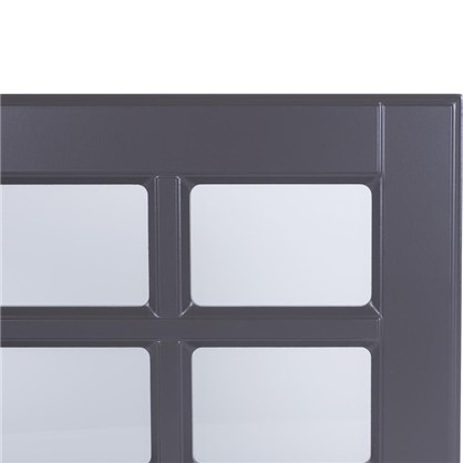 Витрина для шкафа Леда серая 60х35 см
