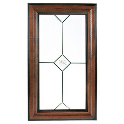 Купить Витрина для шкафа Прованс 40х70 см массив дерева цвет коричневый дешевле