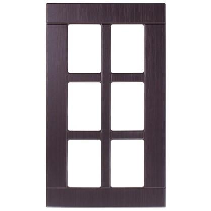 Витрина для шкафа Тотеми без фурнитуры 40х70 см МДФ цвет коричневый