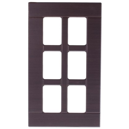 Витрина для шкафа Тотеми без фурнитуры 60х35 см МДФ цвет коричневый