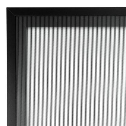 Витрина Лайн 40х70 см алюминий/стекло цвет черный