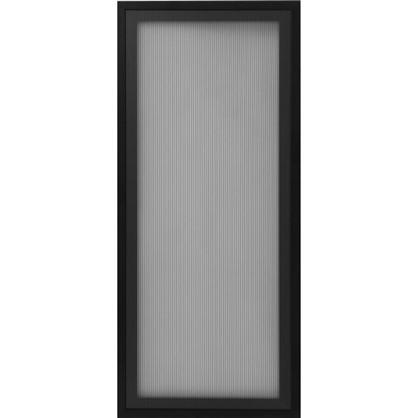Витрина Лайн 40х92 см алюминий/стекло цвет черный
