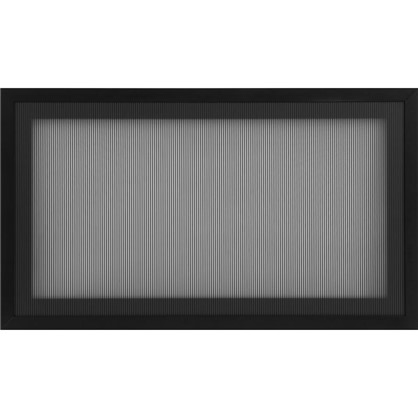 Витрина Лайн 60х35 см алюминий/стекло цвет черный