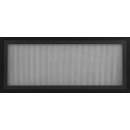 Витрина Лайн 80х35 см алюминий/стекло цвет черный