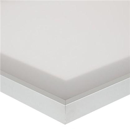 Витрина матовая 40х92 см алюминий/метакрил цвет белый