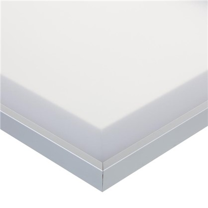 Витрина матовая 60х35 см алюминий/метакрил цвет белый