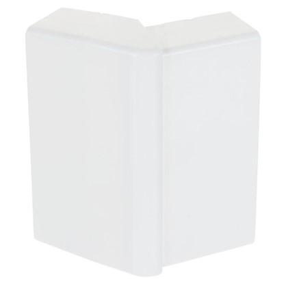 Внешний угол изменяемый 74х20 мм цвет белый 2 шт.