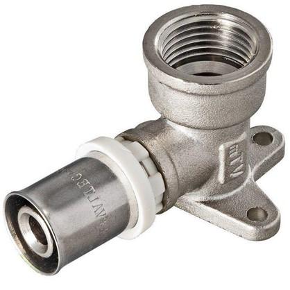 Водорозетка пресс Valtec 16х1/2 мм никелированная латунь