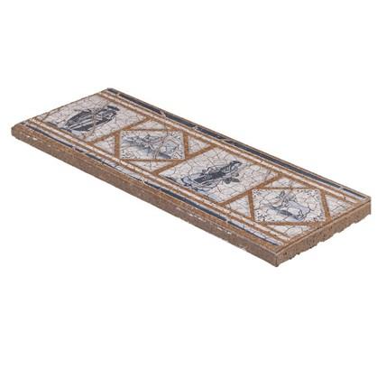 Купить Вставка-подступенник Gresan Natural Cadaques Azul 12х33 см клинкер цвет коричневый дешевле